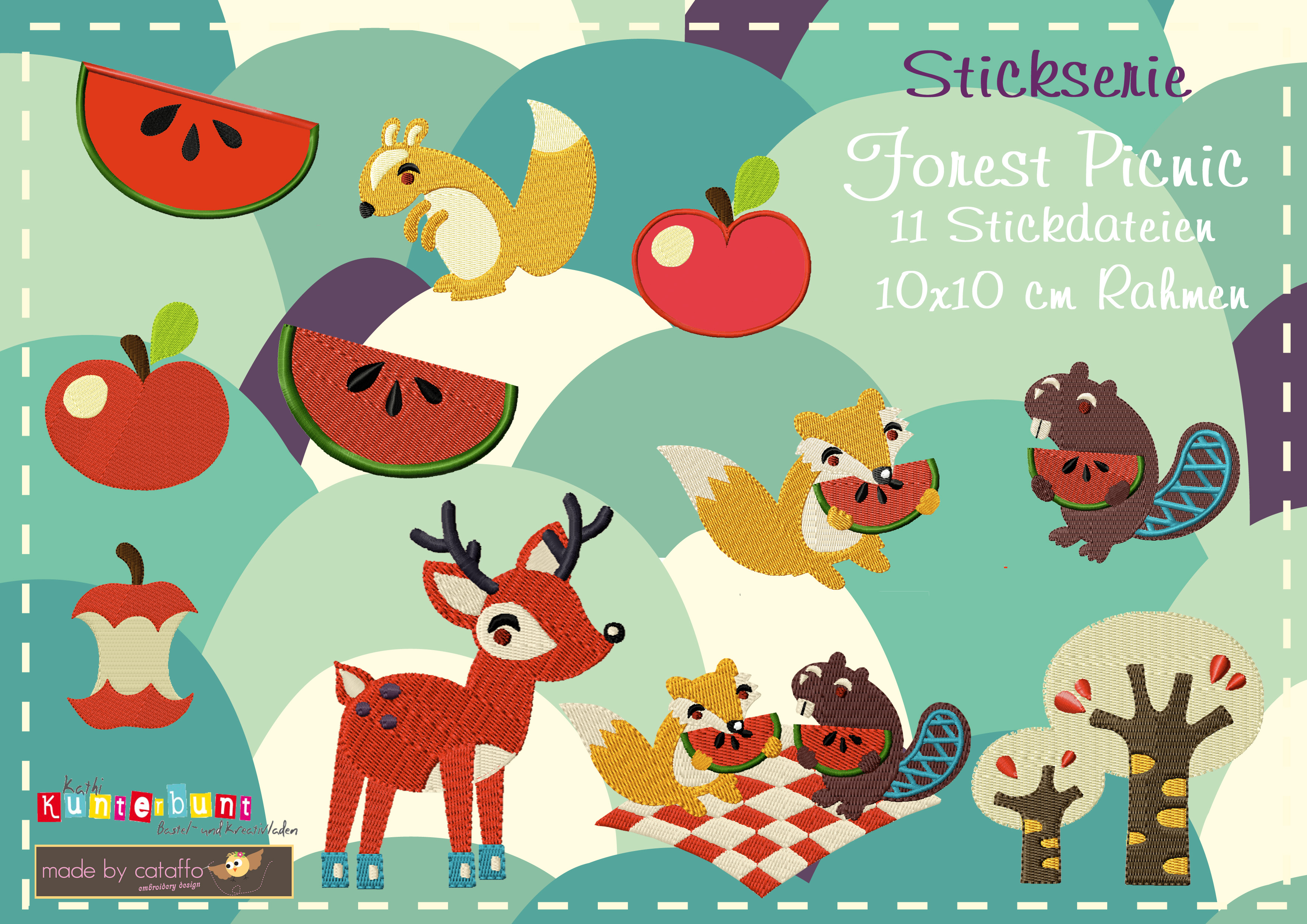 "Stickserie ""Forest Picnic"""