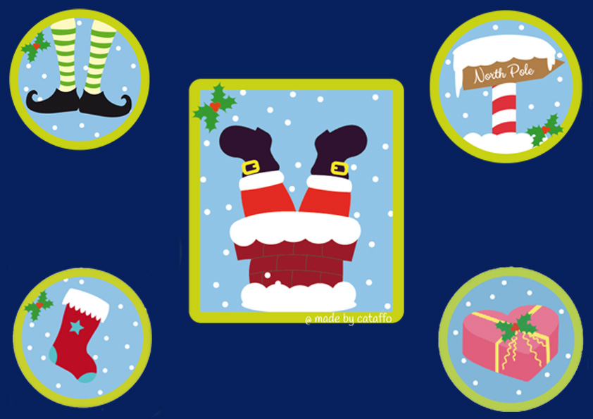 Made by cataffo – Stickdatei Plumpsing Santa