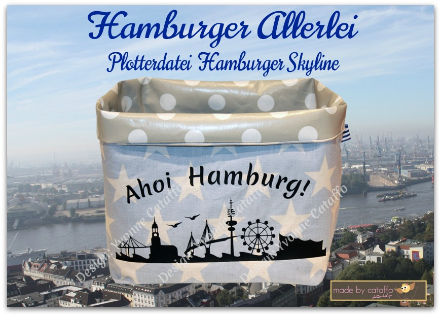 Hamburger Skyline als Plotterdatei