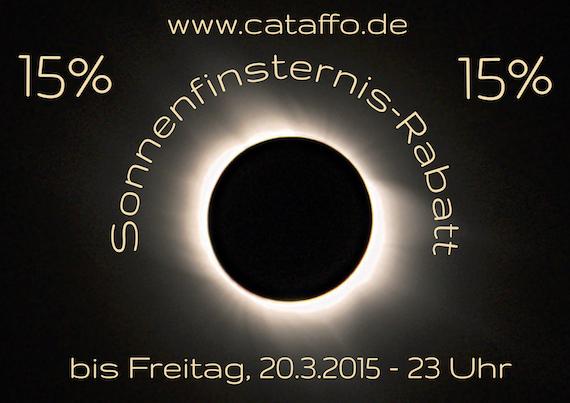 Sonnenfinsternis-Rabatt
