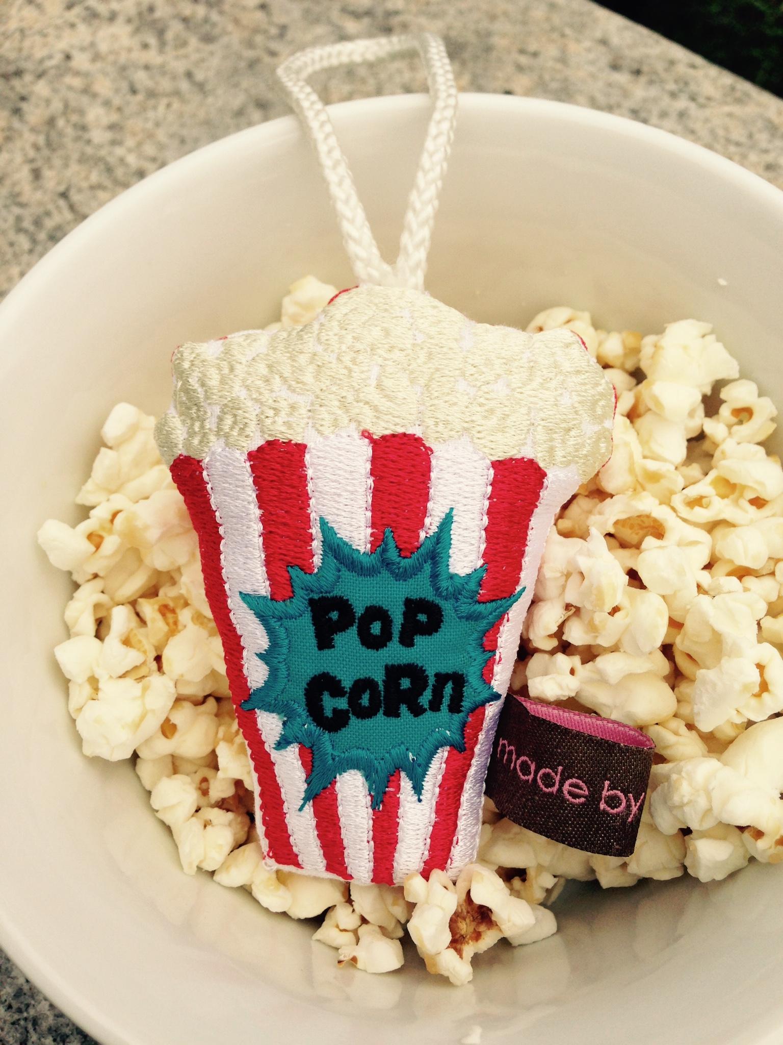 Karamellisiertes Popcorn & Popcornanhänger
