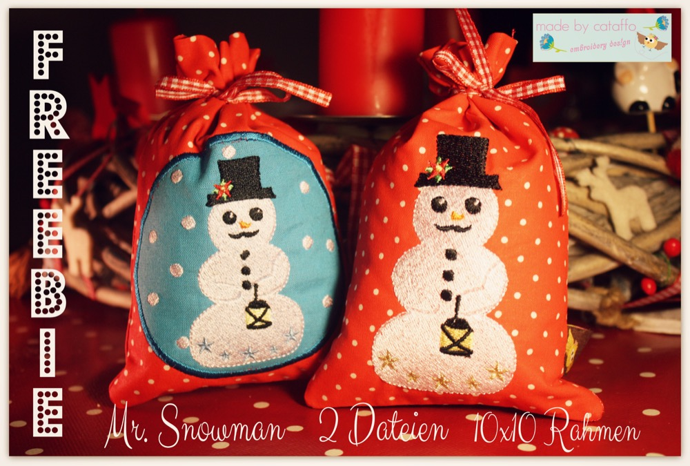 Mr. Snowman *Freebie* Stickdatei