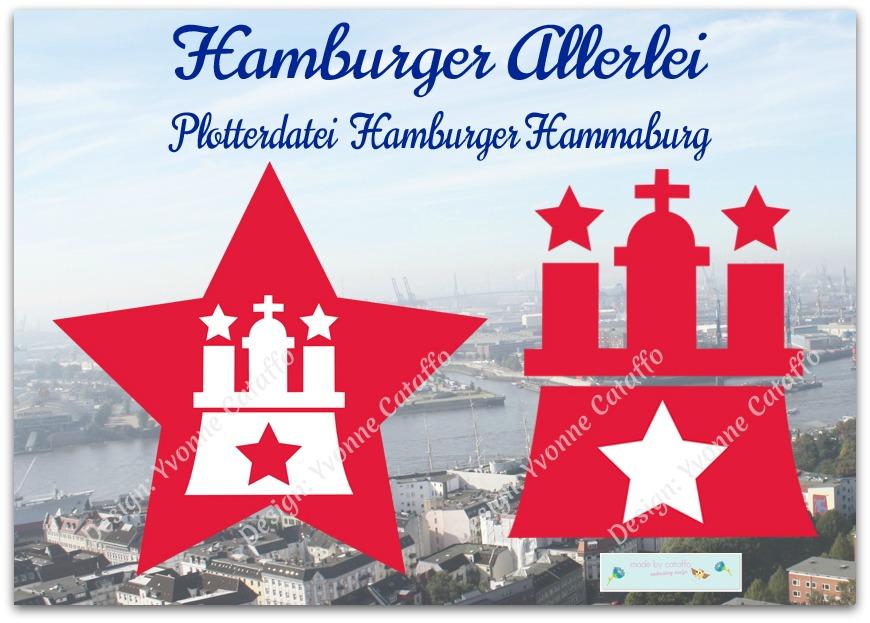 Hamburgzeichen Hammaburg als Plotterdatei