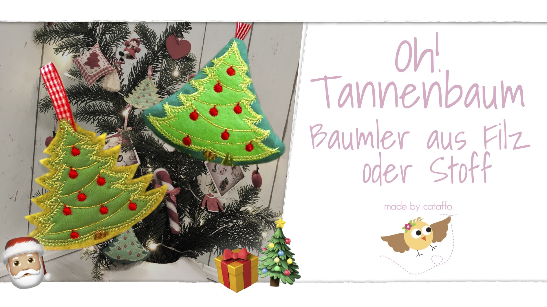 Oh! Tannenbaum Stickdatei-Freebie mit Video
