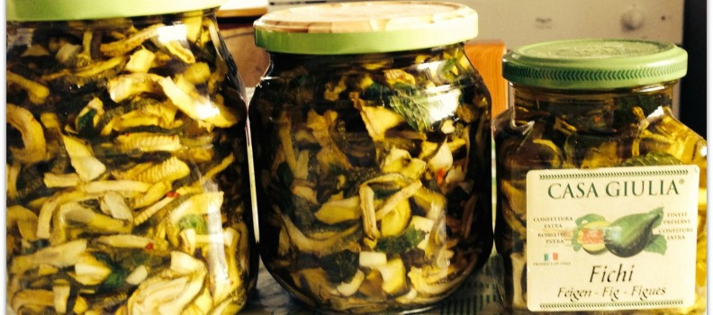 *Zucchine sott'olio* Originalrezept von Zia Anna