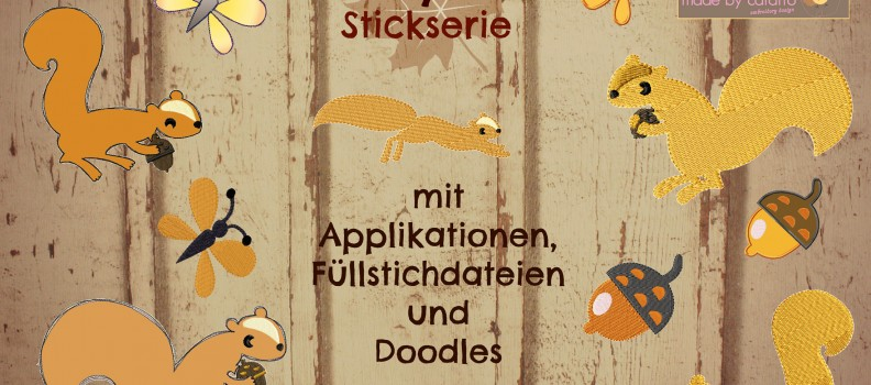 """Totally Nuts"" Stickdatei aus der Serie ""Almost Autumn"""